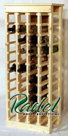 44-Bottle Wine Rack (Oak or Alder)