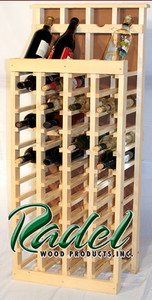 48-Bottle Display (Oak or Alder)