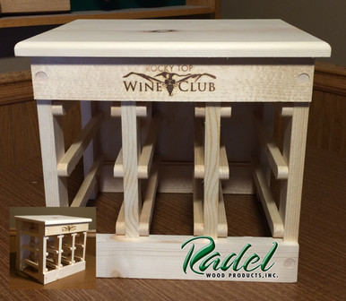 6-Bottle Tabletop Rack