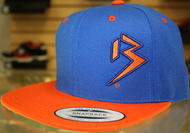 Two Tone Outline B Blue & Orange SNAPBACK SKU # 0238-0507
