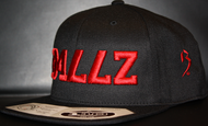 B477Z Black & Red SNAPBACK SKU # 0258-0106