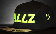 B477Z Black & Neon Yellow SNAPBACK SKU # 0258-0110