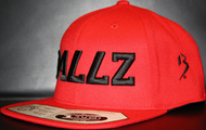 B477Z Red &  Black SNAPBACK SKU # 0258-0601
