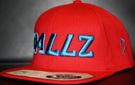 B477Z Red &  Cyan Blue SNAPBACK SKU # 0258-0688