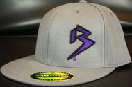 Two Tone Outline B Purple/Black on Dark Grey Hat SKU # 0229-152501