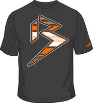 BLITZ T-Shirt Charcoal/Orange/White Sku # 0151-1507