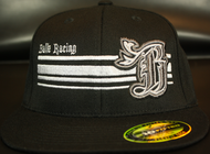 BR logo Silver/Black Chrome on all Black 210 Premium Fitted Sku # 0283-011891