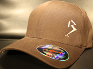 Original B emblem Brown with Tan B curve bill Flexfit hat SKU # 0281-08