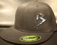 BLITZ Hat Black/Cyan/Neon Pink on all Black 110 SNAPBACK Sku # 0251S-018824