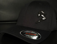 BLITZ Hat Black/White/Black on all Black Curved Bill Sku # 0251C-010201