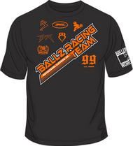 BALLZ RACING TEAM T-Shirt Black/Orange/White SKU # 0154-0207
