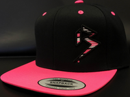 BLITZ Hat Black/Hot Pink/White Classic SNAPBACK Hat Sku # 0251S-012402-OSFA