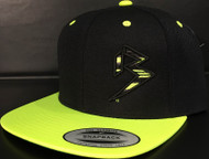 BLITZ Hat Black/Neon Yellow Classic SNAPBACK Hat