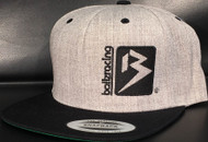 B BOX HEATHER GREY/BLACK Classic SNAPBACK Hat