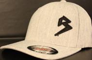 BLITZ Hat HEATHER GREY/BLACK Curved Bill Sku # 0251C-0901