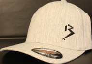 Original B emblem Heather Grey with Black B curve bill Flexfit hat