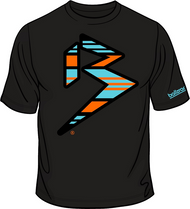 GRANDE BLITZ PREMIUM TEE - BLACK/AQUA/ORANGE