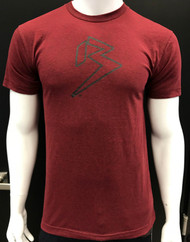 B BRAND TEE - HEATHER CRANBERRY - PREMIUM BLEND
