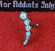 Opal Curved 6 Gem with Straight Bar