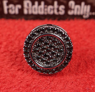 47 Black Gem Round Custom Earring