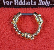 Barbwire Gold Septum Clicker