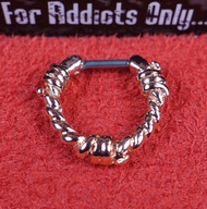 Barbwire Rose Gold Septum Clicker