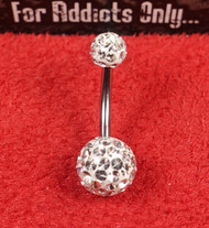 Swarovski Crystal Clear 5x8 Belly Ring