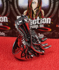 Stainless Steel Black Onyx Dragon Ring