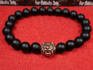 Matte Onyx Rose Gold Lion Bracelet