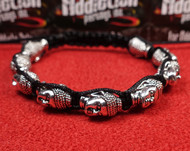 9 Silver Buddha Head Bracelet