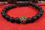 Lava Rock Gold Lion