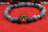 Blue Stone Gold Lion Bracelet