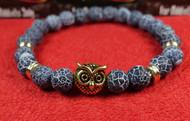 Blue Stone Gold Owl Bracelet