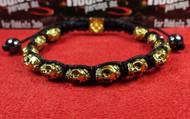 12 Gold Skull Bracelet
