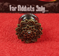 Brass Mandala Screw On Plug