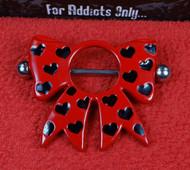 Bow Heart Nipple Shield