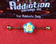 Hawaiian Flower Gold Industrial Bar