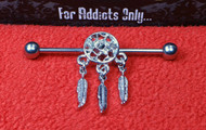 Silver Dream Catcher Industrial Bar