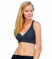Classic Black and White Dot Color. Features include adjustable soft neck and back ties, and removable bra padding.   Pair with ANY Aquadual bottom and easily create the look of a one piece or bikini in seconds.   82% poly 18% spandex