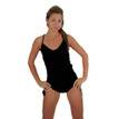 This is the perfect swimsuit. Shown as a  One Piece Can also be worn as One Piece or High Waist. Easy to wear. Just fold down the bottom to create the look you want. Find the fit that makes you feel best by targeting the area of your lower body that you would love to conceal, cover up or show off.  Perfect Fit For All Body Types.