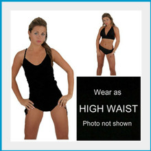 Amazing Adjustable Swimsuit. The Mulikini Bottoms can be worn Endless ways.  Wear One Piece, High Waist, or Bikini. Quick and Easy. Just fold down the bottom to create the look you want. Find the fit that makes you feel best by targeting the area of your lower body that you would love to conceal, cover up or show off.  Perfect Fit For All Body Types.