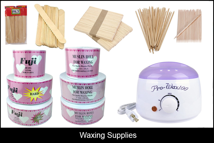 waxing supplies wood sticks