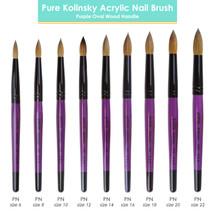 Pana Kolinsky Brush with Round Purple Wooden Handle