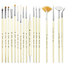 Ginza 17 Piece Nail Art Brush and Dotting Tool Set