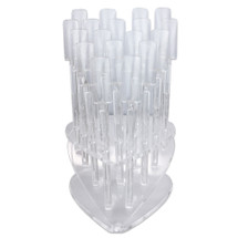 Nail Tip Sticks with Heart Shaped Display Stand - (Clear, Natural)