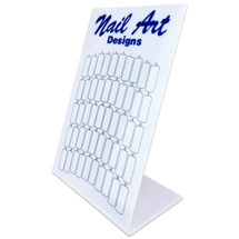 50 Slot Nail Art Designs Nail Tips Display Board - (White, Black)