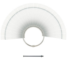 100 Piece Acrylic Nail Tip Sticks with Metal Ring Holder - (Clear, Natural)