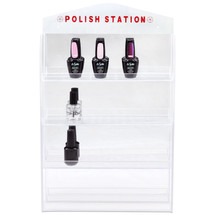 Acrylic Nail Polish Wall Rack with Mirror Reflection (Holds up to 32 Bottles)