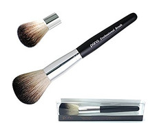 Black and White Face Powder Brush with Sleek Black Handle
