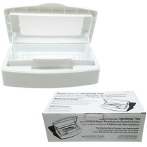 Professional White Sterilizer Box with Removable Tray